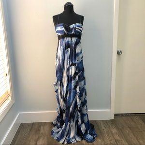 Blue Goddess Gown BCBG Maxi Formal Empire waist